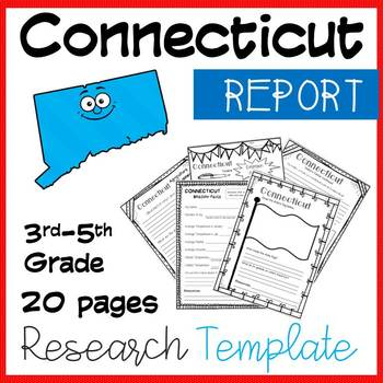 Connecticut State Research Report Project Template with timeline