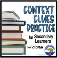 Context Clues Worksheets - Middle School and High School ...