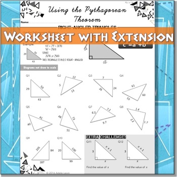 Converse of the Pythagorean Theorem (WORKSHEET) by Adele Levin TpT