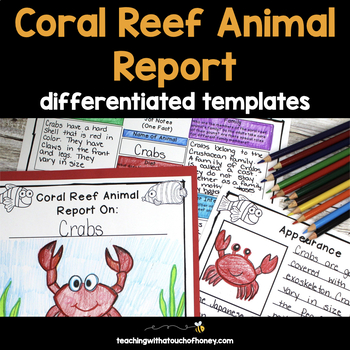 Informational Writing Templates Coral Reef Activities Ocean