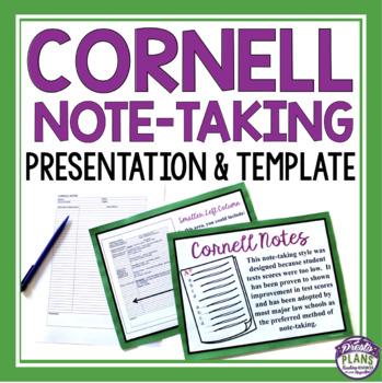 CORNELL NOTES by Presto Plans Teachers Pay Teachers
