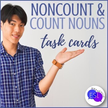 Count  Noncount Nouns (Task Cards) #2 by Rike Neville TpT - count and noncount nouns esl