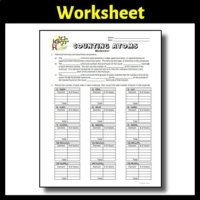 Counting Atoms Worksheet {Editable} by Tangstar Science   TpT