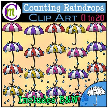 Counting Clipart Raindrops by CrunchyMom Teachers Pay Teachers