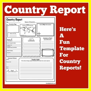 Country Research Project Country Report Template by Green Apple