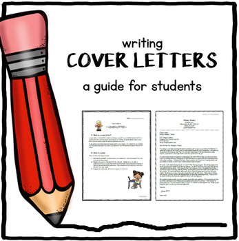Cover letter-writing guide for students by RealWorldClass TpT