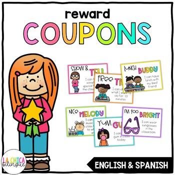 Reward Coupons / Cupones de Premios {English  Spanish} by La Chica