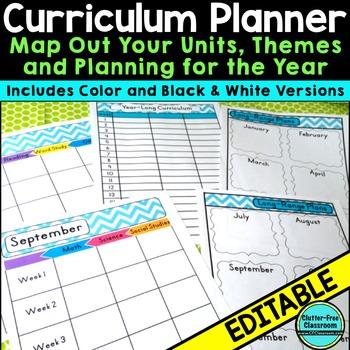 Curriculum Planning Calendar  Templates EDITABLE {Maps,Pacing,Long - curriculum planning template