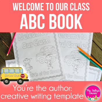 ABC Book Template Welcome To Our Class by MsFultzsCorner TpT