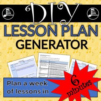 Band Lesson Plan Template Teaching Resources Teachers Pay Teachers