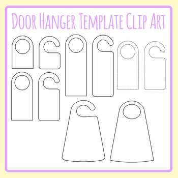 DIY Make Your Own Door Hanger Templates Blank Clip Art