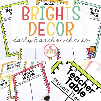 Daily Five Anchor Charts by Mrs Jones\u0027 Creation Station TpT - anchor charts