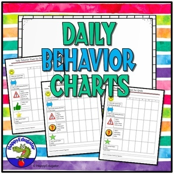 Behavior Charts For Elementary Teaching Resources Teachers Pay