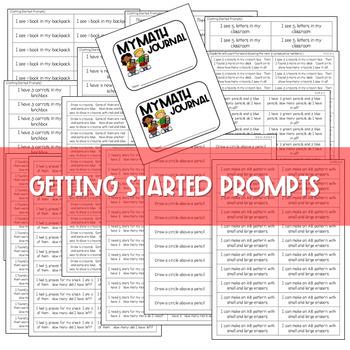 Kindergarten Math Journal Prompts FREE GETTING STARTED by Deedee Wills