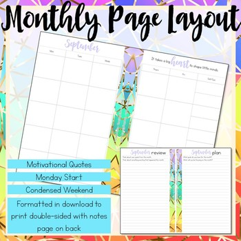 Daily Teacher Planner, Half-Page Size by Teaching Eternity TpT
