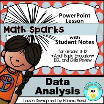 Data Analysis PowerPoint and Student Notes Newly Revised by Pamela Moeai - esl powerpoint lesson
