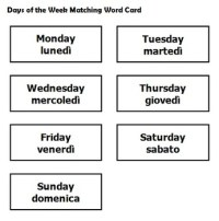 Kindergarten Italian Worksheets Days Of The Week ...