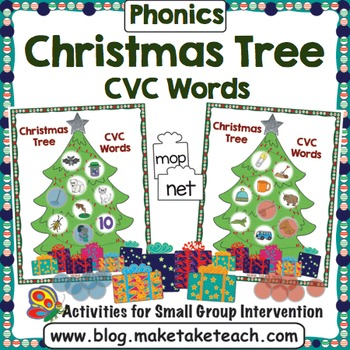 CVC Words - Decorate the Christmas Tree by Make Take Teach TpT - christmas tree words