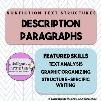 Description Text Structure Intro, Paragraph Analysis, Writing