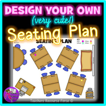 Interactive Classroom Seating Chart Template with movable images! - Classroom Seating Chart Templates