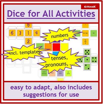 blank dice template Worksheets  Teaching Resources TpT