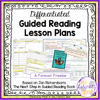 Differentiated Guided Reading Lesson Plans by My Literacy Spot TpT