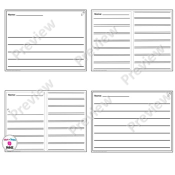 Differentiated Writing Sheets-Kindergarten Writing Paper TpT