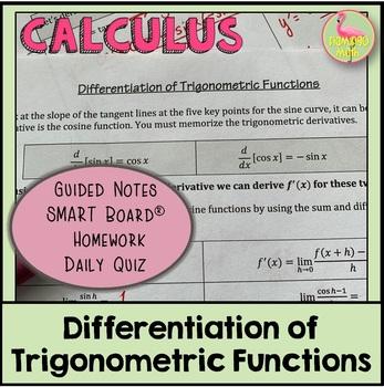 Derivatives of Trigonometric Functions (Calculus - Unit 2) by Jean Adams