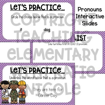 Digital Classroom Pronouns and Proper Nouns by Teaching with Katie