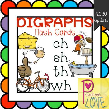 Digraphs Printable Flash Cards by Preschool Love TpT