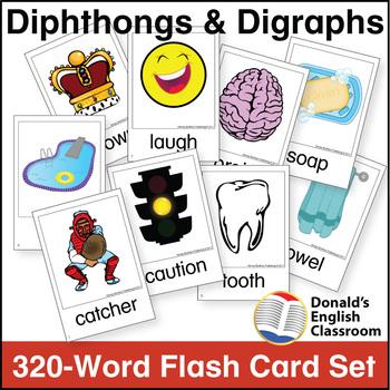 Diphthong  Digraph Flash Card Set by Donald\u0027s English Classroom
