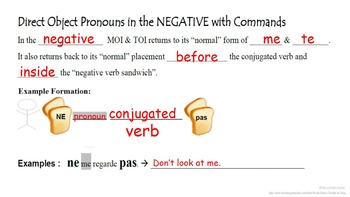 Direct Object Pronouns In French Imperative Commands Tpt