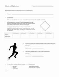 Distance and Displacement Worksheet by David Baxter | TpT
