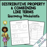 Distributive Property & Combining Like Terms Discovery ...
