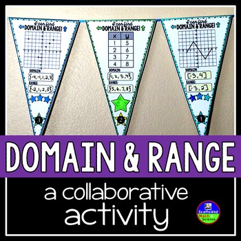 Domain and Range Math Pennant by Scaffolded Math and Science TpT