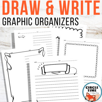 Write and Draw Templates by Circle Time with Miss Fox TpT