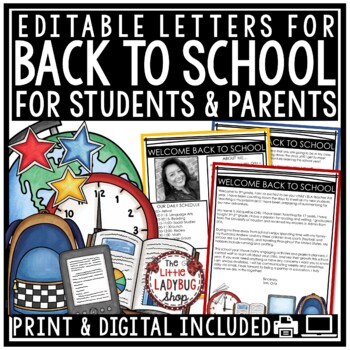 EDITABLE Welcoming Summer Teacher Letter to Future Students TpT