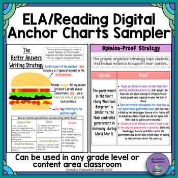 ELA/Reading Digital Anchor Charts Freebie by The Creative Classroom - anchor charts
