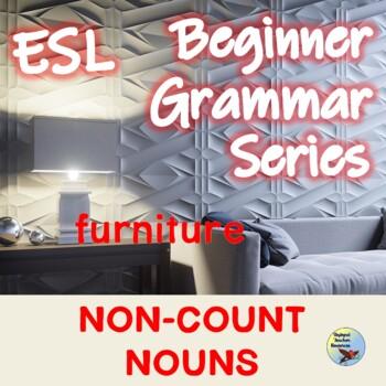 ESL Activities Nouns 3 Noncount (Uncountable Nouns) Packet EFL