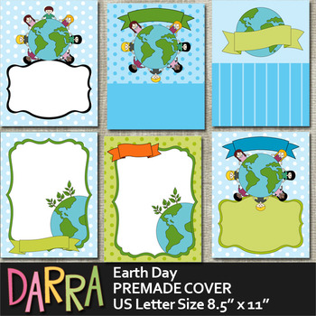 Earth Day Planner Binder Cover Page Background Premade by DarraKadisha