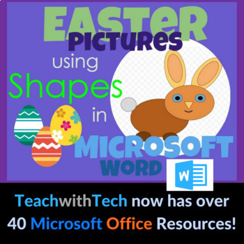 Easter Bunny Pictures using Shapes in Microsoft Word by Gavin Middleton - microsoft word easter egg