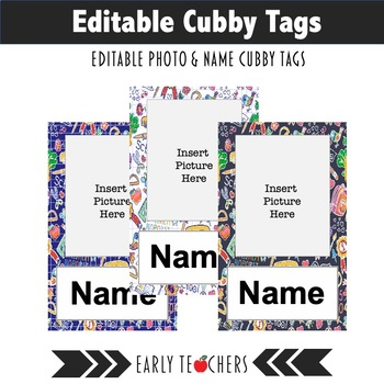 Cubby Name Tags Worksheets  Teaching Resources TpT