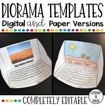 Diorama Template Teaching Resources Teachers Pay Teachers