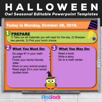Halloween Powerpoint Template Teaching Resources Teachers Pay Teachers