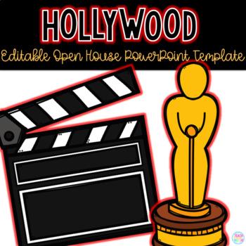 Editable Hollywood Themed Open House PowerPoint Template TpT