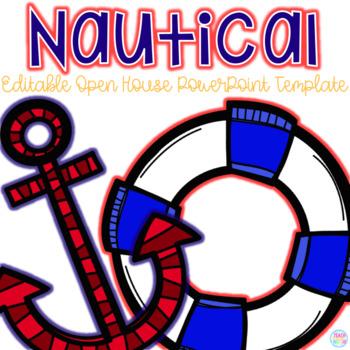 Editable Nautical Themed Open House PowerPoint Template by Teach