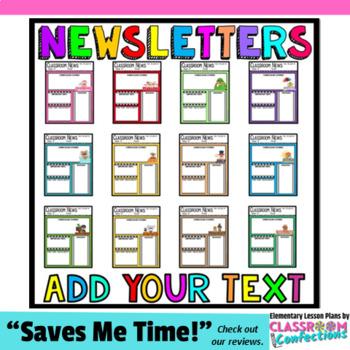 Teacher Newsletter Templates Editable Newsletters by Elementary