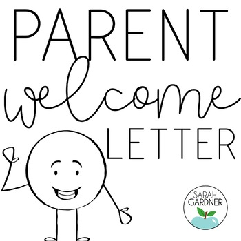 Welcome Letter To Parents Template Worksheets  Teaching Resources TpT