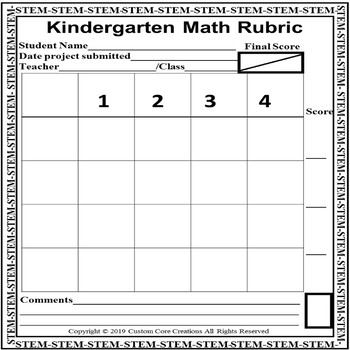 Editable STEM Blank Rubric Templates by Custom Core Creations TpT