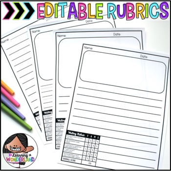 Lined Paper With Picture Box Teaching Resources Teachers Pay Teachers - editable lined paper